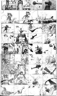 Gorillaz storyboards by Jaime Hewlett (949×1600)