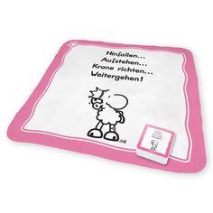 """Magic Towel """"Krone richten"""" von sheepworld. http://sheepworld.de/shop/nach-Serien-Motive/Krone/Magic-Towel-KRONE.html"""