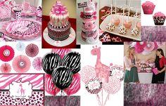 Pink Safari Baby Shower