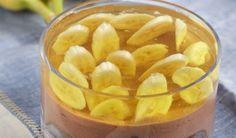 Μπανανοσοκολάτα με άνθος αραβοσίτου και ζελέ | Συνταγές - Sintayes.gr Dessert Recipes, Desserts, Cantaloupe, Peach, Pudding, Candy, Fruit, Food, Tailgate Desserts