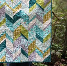 Via Cluck Cluck Sew. Super cute chevron. I think it's the Les Amis fabric by Patty Sloniger.