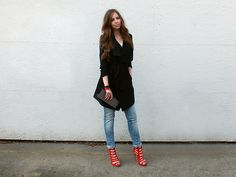 Only Trench, Freesoul Jeans, Jumex Highheels