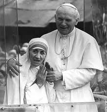 Mother Teresa & Pope John Paul II. They showed the true meaning and message of Catholicism. Amazing people.