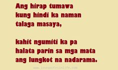 Hugot Quotes Tagalog | Love Quotes in Life