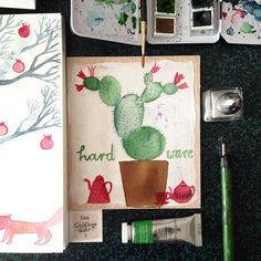 Some impressions from my watercolor session last night . . . . #illustration #illustrationoftheday  #morningcoffee #morningdoodle #coffeelove #handlettering #drawing  #typography  #draweveryday #instaartist  #illustratorsofinstagram #art_we_inspire #botanicalillustration #watercolor #peaceful #relaxing #cactus #inspiration #makersmovement  #simplepleasure #slowlivingforlife #bookworm #berlinillustration #bookillustration #book #bücherwurm  #booklover #matskidbook