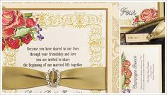Rhinestone wedding invitations : Momental Designs