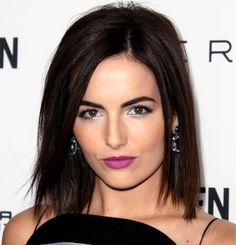 """Another take on the long bob is this super-straight, razor-cut style. """"Poker straight is a great way to get a sophisticated, sexy look,"""" says Gueldner. """"It's a nice change from the beachy wave."""""""