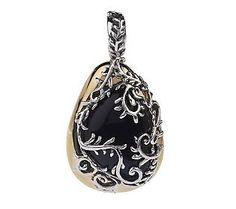 Carolyn Pollack Arbor Vine Sterling/Brass Gemstone Enhancer
