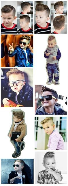 Kids/Boys hair cut and style inspiration - for the special little man in your li...