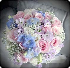 Wedding – Sweet as cosmos Wedding Bridesmaid Bouquets, Bridal Bouquet Blue, Flower Bouquet Wedding, Diy Flowers, Flower Decorations, Wedding Decorations, Spring Wedding Colors, Wedding Flower Arrangements, Marie