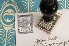 Peacock address stamp from Bloomfield & Rolfe - perfect for letters and all other civilised forms of written communication! #addressstamp #peacock