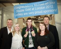James Leckey Design held a reception for Michael McKillop Paralympic Double Gold Medallist at their new premises in Lisburn.    All employees and their families were invited to come along and congratulate Michael on his win.  It was also an opportunity to show employee's families around the new factory.