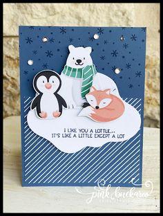 Stampin Up Christmas, Christmas Cards To Make, Xmas Cards, Christmas Holidays, Fun Fold Cards, Cute Cards, 123 Cards, Scrapbooking, Stamping Up Cards