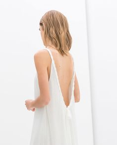 ZARA - COLLECTION AW14 - BRAIDED BACK DRESS