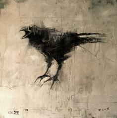Guy Denning  'lashed to wire like rags in the wind' oil and collage on canvas, 40 x 40 cm, 2012