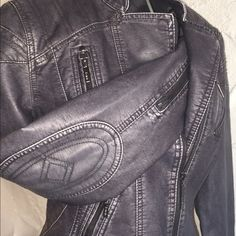 Kinsey, made to make you feel pretty Great jacket!! Looks like leather, but it's not.has a lot of detail love love love this jacket!!!. This jacket is a medium and it fits about a 34 C or D Jackets & Coats