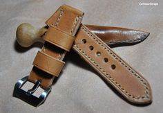 Vintage sun tanned ammo style handmade leather by CentaurStraps, €59.00