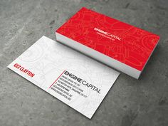 Engine Capital business card by Lemongraphic