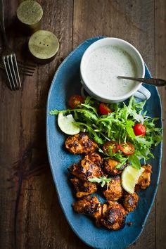 Chicken Tikka with Cherry Tomatoes, Onion, & Arugula Salad | Journey Kitchen