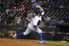 CrowdCam Hot Shot: Kansas City Royals relief pitcher Tim Collins delivers a pitch in the ninth inning against the Cleveland Indians at Kauffman Stadium. Kansas City won the game 7-1. Photo by John Rieger
