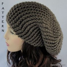 crochet hat pattern Providence Slouchy Hat by longbeachdesigns,
