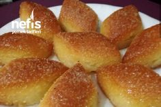 Semolina Cut (Very Delicious) Recipe Dinner Recipes, Dessert Recipes, Desserts, Food Articles, Turkish Delight, Breakfast Items, Turkish Recipes, Hot Dog Buns, Biscotti