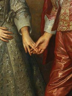 Couple - Portrait of William of Orange as a prince and his future bride Mary Stuart (detail) 17th century, by the Flemish painter Anthony van Dyck