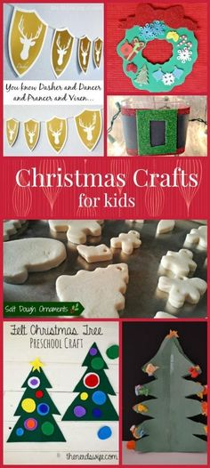Kids already asking you to put up the tree? Hold them over with these easy and fun Christmas crafts for kids that you can make now!