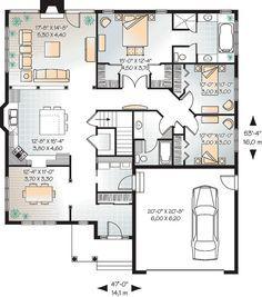 Bungalow House Plan   Charming Brick Bungalow   1500 Square Feet ... | Floor  Plans | Pinterest | Bungalow, Square Feet And Bricks