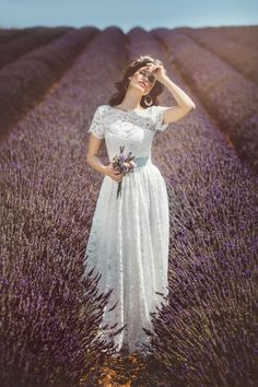 PROVENCE WEDDING DRESS<br/>white