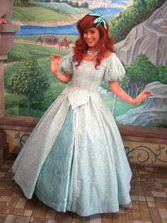 I love this princess dress on Ariel! some of my favorite Disney pics are with Ariel in this dress Little Mermaid Characters, Disney Face Characters, Ariel The Little Mermaid, Disney Princesses And Princes, Disney Princess Ariel, Disney Cosplay, Disney Costumes, Ariel Cosplay, Mermaid Costumes