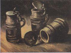 Van Gogh - Stillleben mit drei Bierkrügen, 1884