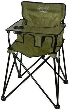 Portable Toddler Camping High Chair. Easy to carry and set up. Just unfold and lock and its ready to use.