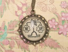 Libra Zodiac Necklace Hand drawn by EternalGirl on Etsy, $15.00