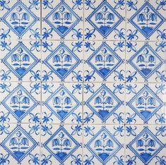 Antique Delft wall tiles