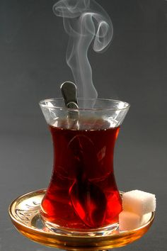This is a great shot of hot tea!