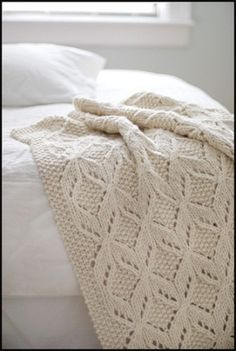 Knitted blanket by marian