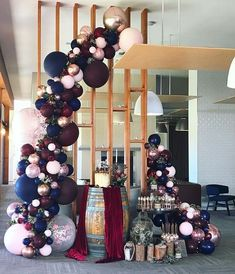 Burgundy, navy and rose gold wedding balloon garland Stylish Soirees Perth Just the balloons Wedding Scene, Dream Wedding, Wedding Day, Arch Wedding, Wedding Church, Forest Wedding, Trendy Wedding, Budget Wedding, Wedding Bells
