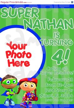 54 best birthday party ideas super why images on pinterest super why invitation filmwisefo