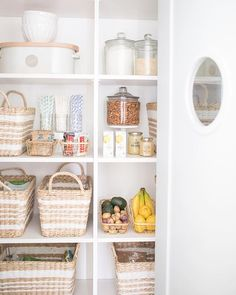 I like the pretty baskets for hiding less pretty items or bulky items