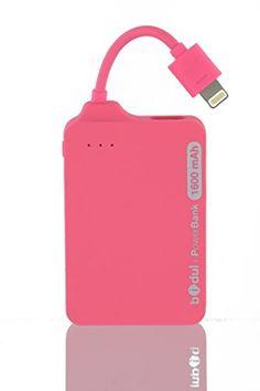 i-PowerBank 1600mAhRS - Batterie de secours externe 1600 mAh, sous License Apple MFI, pour iPhone avec connecteur Apple Lightning. - Couleur : ROSE BIDUL http://www.amazon.fr/dp/B00PQMYV52/ref=cm_sw_r_pi_dp_3qa4vb04QHN4H