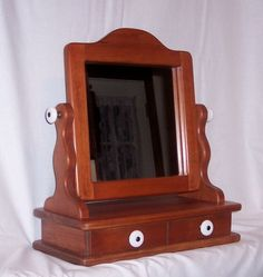 Dresser Top Vanity From Solid Cherry And A 10 Inch Moveable Mirror