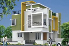 Buy a Villa in Purple Town - Gopanpally Hyderabad. Explore Purple Town villa floor plan price amenities project construction status & possession date. verified with real Bungalow House Design, House Front Design, Small House Design, Modern House Design, House Design Pictures, House Elevation, Building Elevation, Front Elevation, Independent House