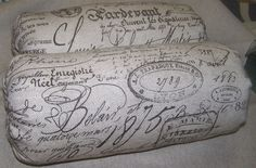 Wool bale cushions