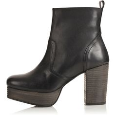 TOPSHOP ALIYAH 90s Chunky Ankle Boots ($75) ❤ liked on Polyvore