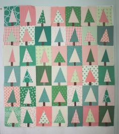 Diary of a Quilter Christmas Tree Quilt