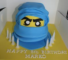 Lego Ninjago Cake. Have to attempt this for Landon's birthday on Sunday.