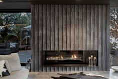 GD1 Glass fronted gas fireplace for Ponting Fitzgerald Architects