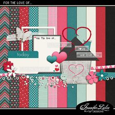 FREE For the Love of... Digiscrap Parade | February 2014