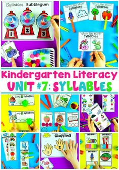 Syllables Worksheets and Games for Kids #syllables #kindergartenworksheets #literacyworksheets